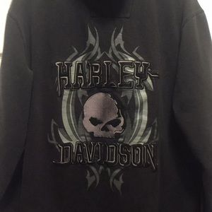 Harley Davidson official zip up hoodie Box#4